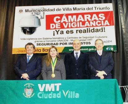 UNACEM y Municipalidad de VMT instalarán sistema de videovigilancia