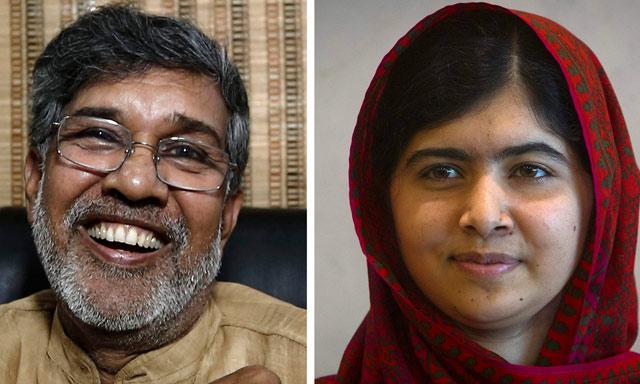 Malala Yousafzai (India) y Kailash Satyarthi (Pakistán) pertenecen a países cuya historia se ha visto marcada por conflictos mutuos. Fotos: Reuters.