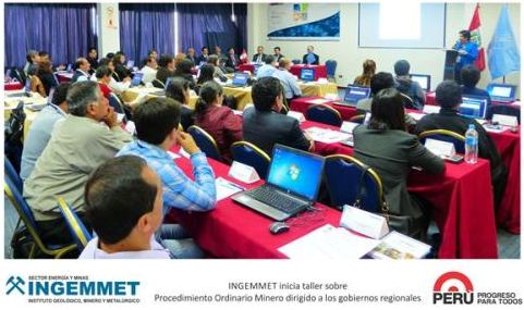 Ingemmet realiza taller de procedimiento ordinario minero dirigido a funcionarios regionales