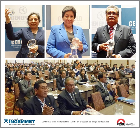 Premian a Ingemmet por valiosa información para la gestión del riesgo de desastres