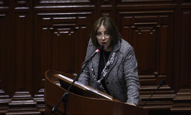 Recientemente Midori de Hábich fue interpelada en el congreso. (Foto: La República)