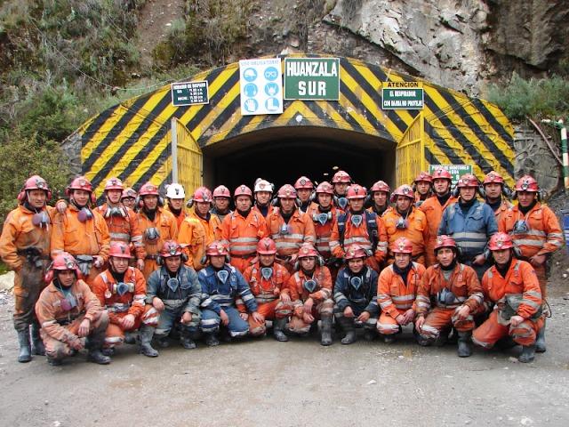 personal de mina Huanzala