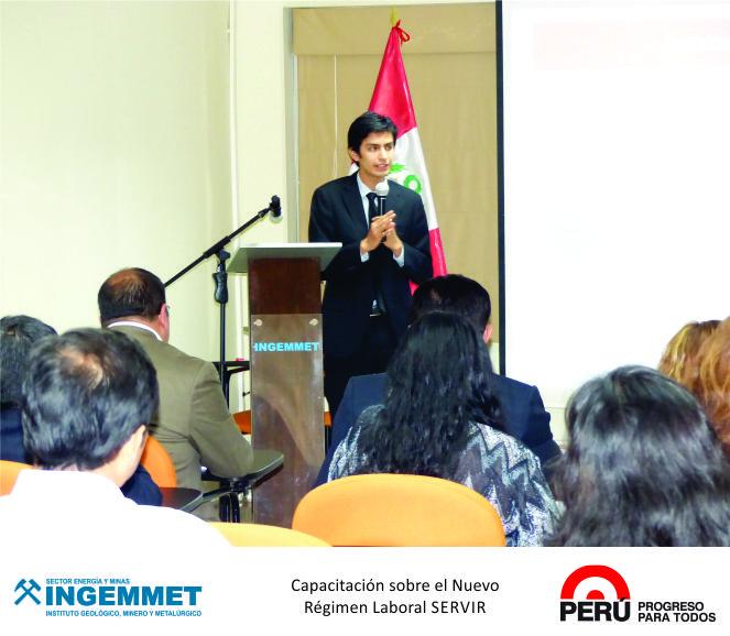 Brindan conferencia sobre nuevo régimen Servir a funcionarios de INGEMMET