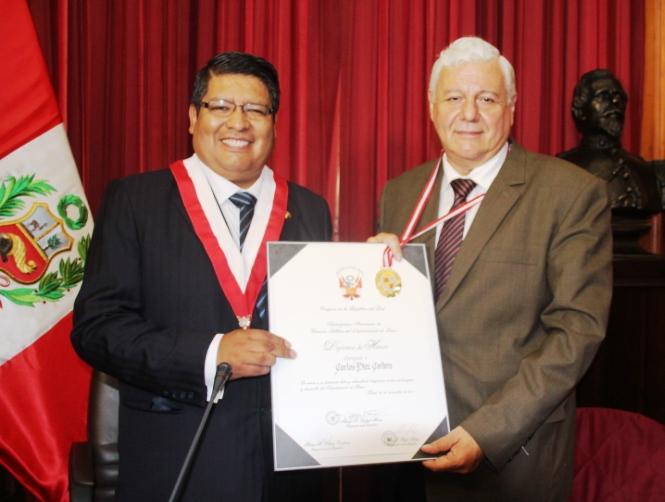 Carlos Diez Cordero y Néstor Valqui