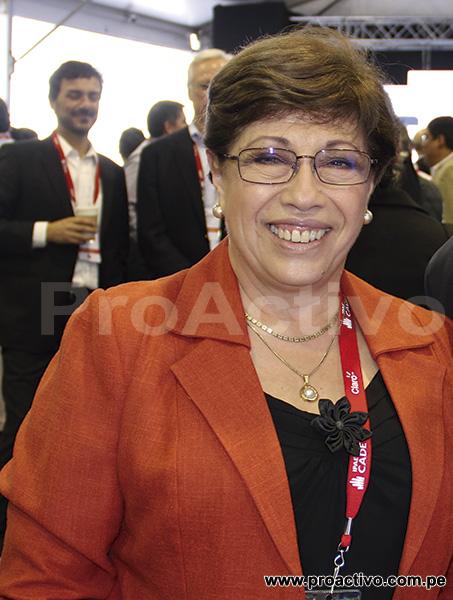 Eva Arias, Presidente de la SNMPE.