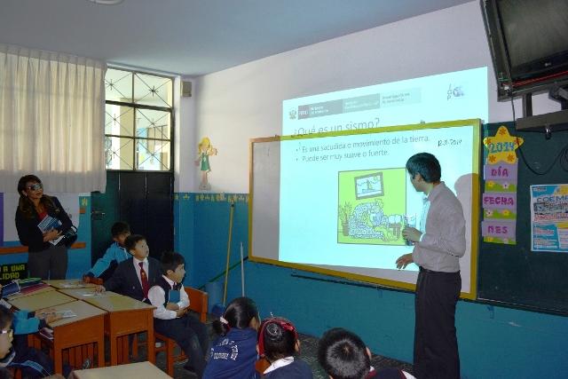 IGP brindó charla educativa sobresismos y volcanes