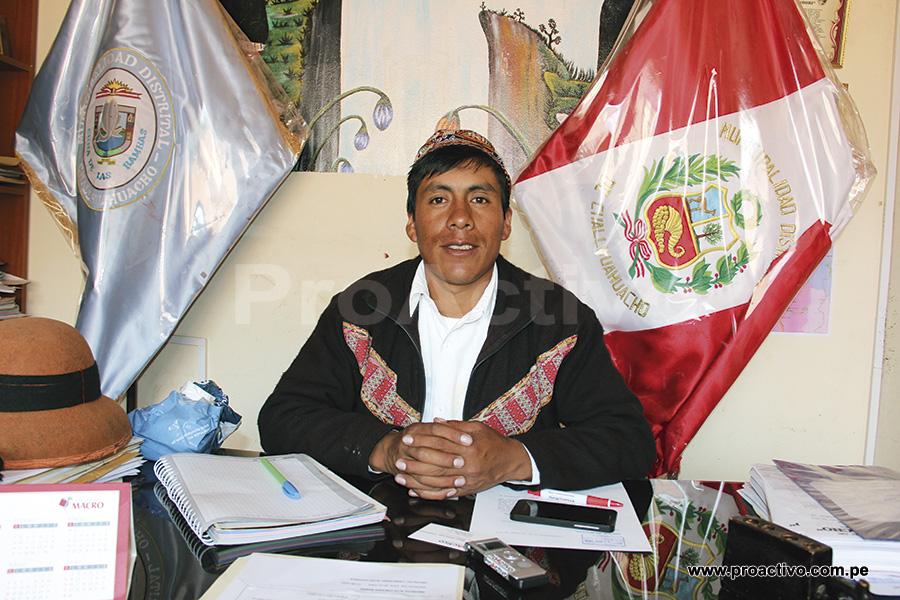 """Odilón Huanaco """"Niñucha"""", alcalde de Challhuahuacho que dejará el cargo en enero de 2015 para gobernar el municipio provincial de Cotabambas."""