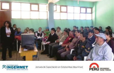 INGEMMET capacitó a estudiantes en Apurímac por el día del trabajador minero