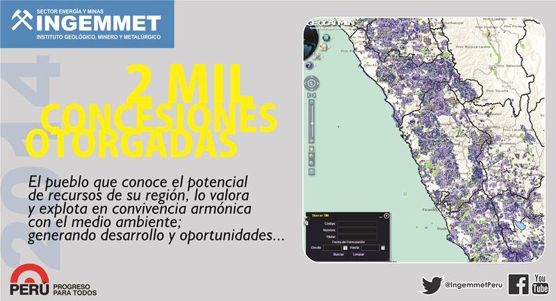 Ingemmet otorgó más de 2 mil títulos mineros en el 2014
