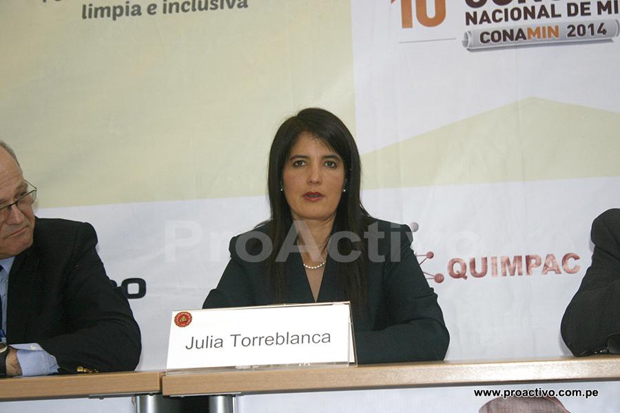 Julia Torreblanca, vicepresidente de Asuntos Corporativos de Cerro Verde