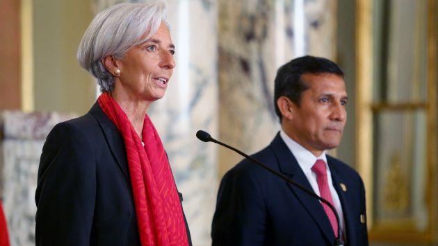 Christine Lagarde, directora del FMI (Foto: Perú 21)