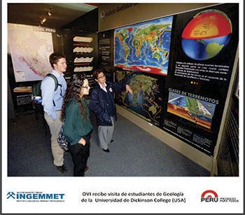 OVI recibe visita de estudiantes de geología de la universidad de Dickinson College (USA)