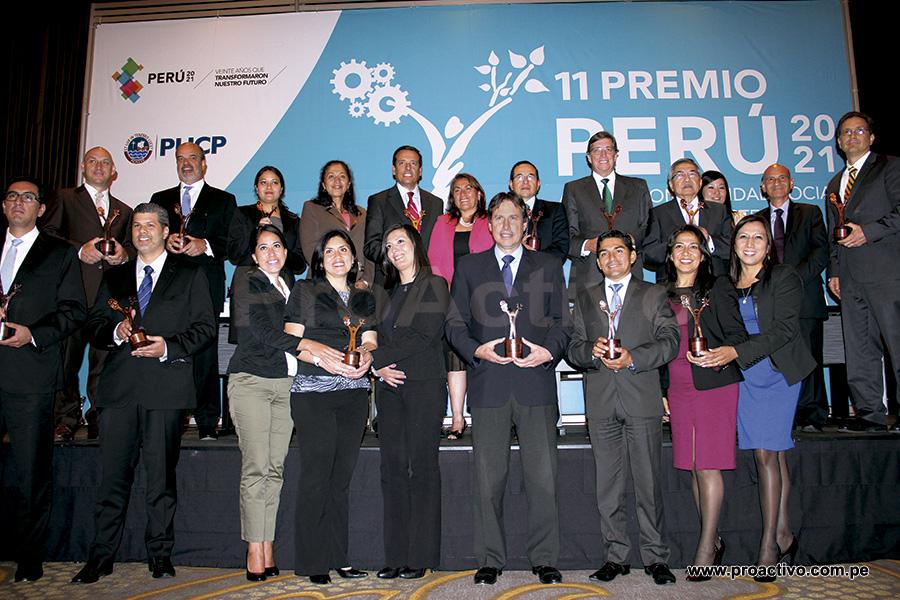 Ganadores del Premio Peru2021