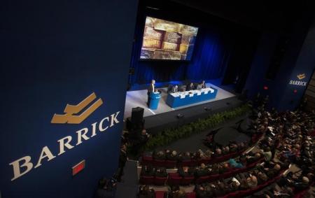 Vista general de la reunión anual de inversionistas de Barrick en Toronto