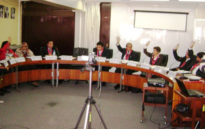 El pleno del Concejo Regional de Junín, en su primera sesión ordinaria, acordó iniciar el proceso de descentralización. Foto: ANDINA/Pedro Tinoco.