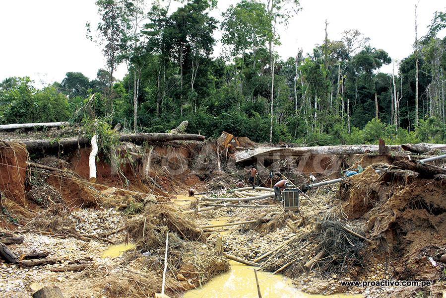 Minería aluvial en Madre de Dios. Foto: Archivo ProActivo
