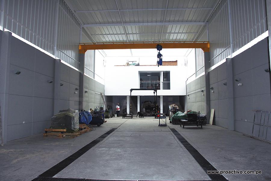 Modiesel: taller con grúa pórtico. Avanzan hacia la trinorma ISO 9001, 14001 y OHSAS 18001.
