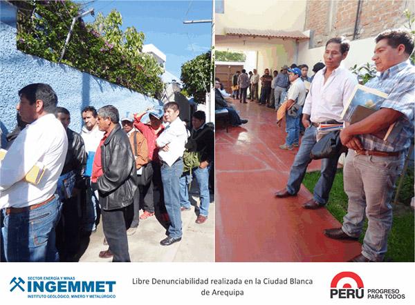 Ingemmet recibió petitorios a nivel nacional durante jornadas de libre denunciabilidad