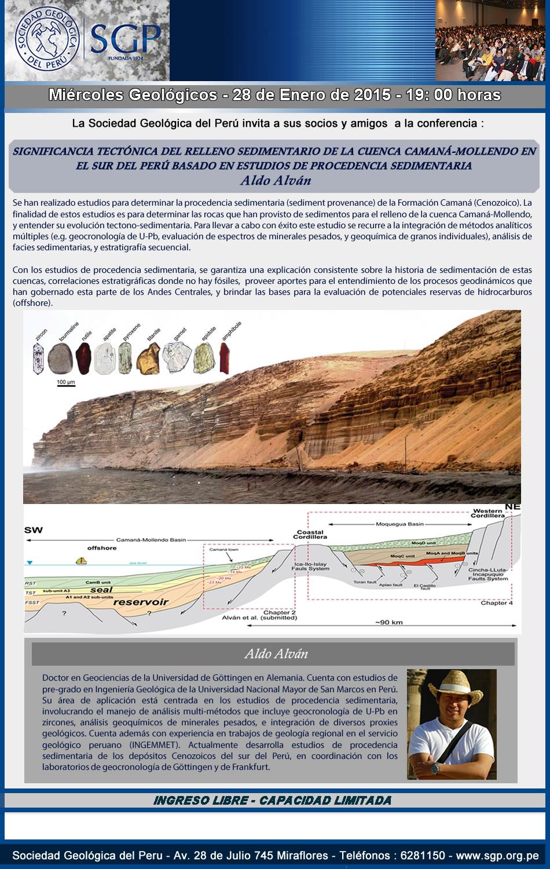 SGP Relleno sedimentario de la cuenca Camaná-Mollendo