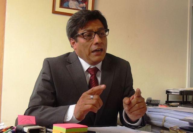 El director de Energía y Minas de Junín, Juan Samanez Bilbao. Foto: ANDINA/Pedro Tinoco.