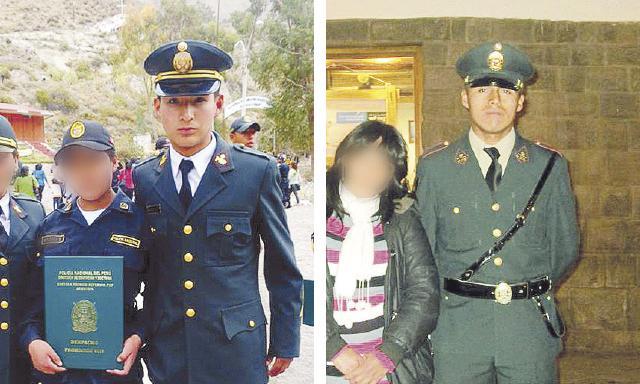 DOLOR. Jóvenes suboficiales Antony Cortez Villasante (20), natural de Arequipa, y Yimmi Quispe Yarín (25) perdieron la vida en cumplimiento de su labor. (Foto: la República)