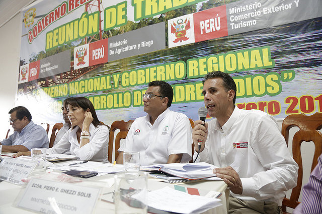 PRODUCE_Reunión de Trabajo entre el Gobierno Regional de Madre de Dios con el Gobierno Nacional