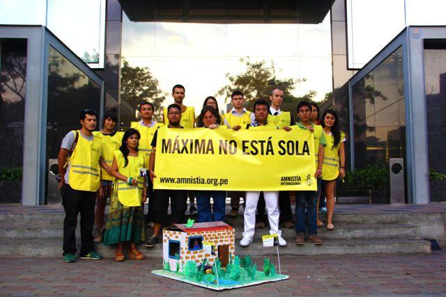 Amnistía Internacional también se pronuncia en defensa de Máxima Acuña