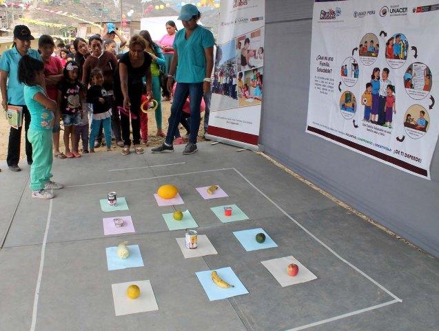Asociación UNACEM Domingo Saludable en el AAHH Villa de Lourdes