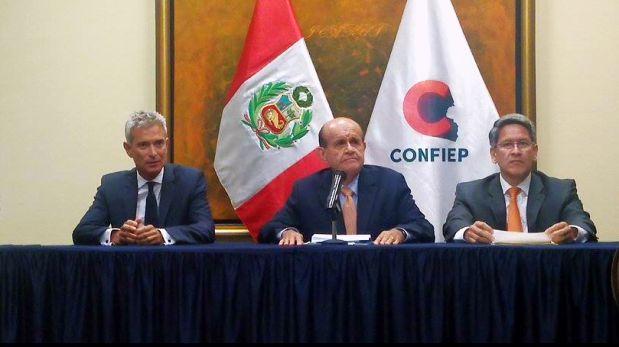 Martín Pérez, presidente de laConfiep. (Foto: TV Perú).