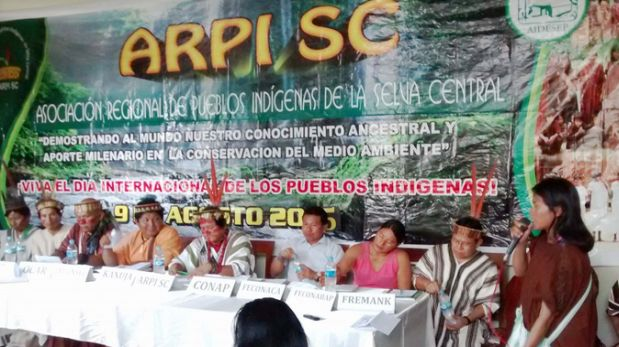 Dirigentes indígenas criticaron duramente a quienes fomentaron las protestas en Pichanaki. (Andina)