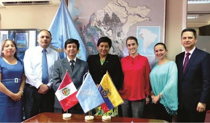 Viceministra de Colombia visita INGEMMET para conocer política minera del Perú