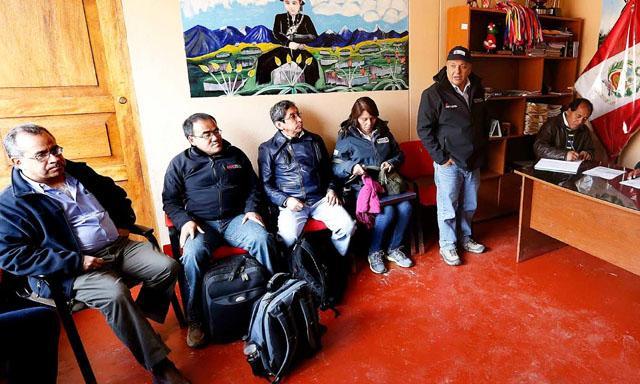 Integrantes del Gabinete Ministerial viajaron por segunda vez en menos de una semana a Challhuahuacho. Foto: difusión