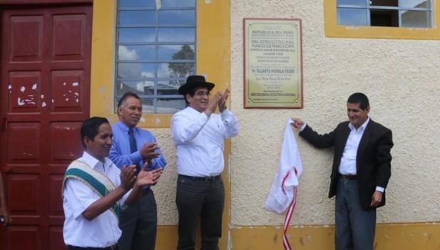 """Quintanilla declaró en la inauguración del """"Sistema Eléctrico Rural Huánuco Eje Panao III Etapa"""", realizado en Huánuco."""