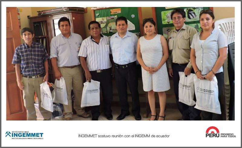 INGEMMET sostuvo reunión con el INIGEMM de Ecuador