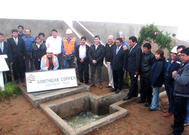 Southern Peru inaugura tres reservorios hídricos en Huanuara