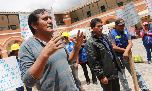 Temor por conflicto. El próximo lunes 23 de marzo los mineros de Unión Santa Rosa reclamarán los terrenos a la empresa SOTRAMI.(Foto: Jornada)