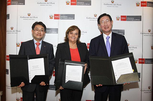 MEM suscribe tres convenios de cooperación en desarrollo energético con entidades de Corea del Sur