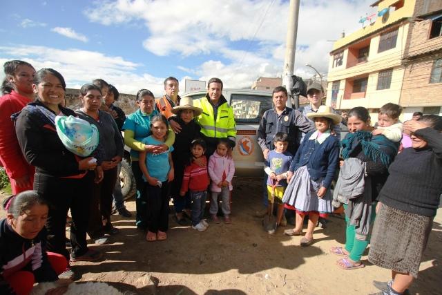Pobladores de Samanacruz, Defensa Civil y Yanacocha, juntos frente a los embates de la naturaleza