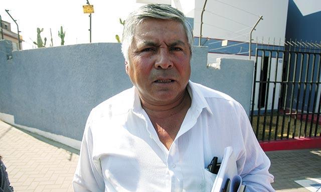 Presidente de la junta de usuarios de La Joya Nueva, Teófilo Barreda Salas.