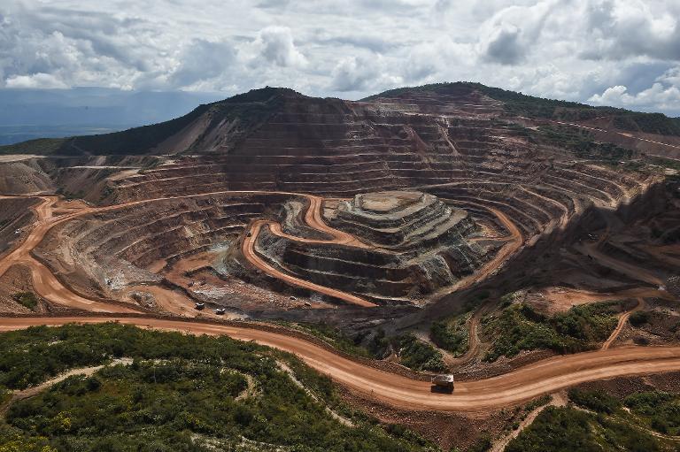 Vista general de Los Filos, mina de oro en el estado de Guerrero, México, el 21 de octubre de 2014. (AFP/AFP)
