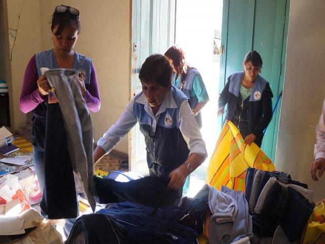Más de 70 de ciudadanos permanecen en un albergue temporal destinado por el gobierno regional. (Créditos: RPP/ Cortesía Beneficencia Pública)