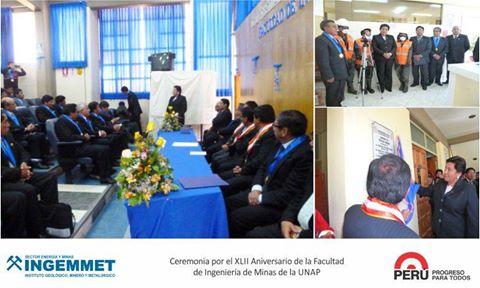 INGEMMET saluda a Facultad de Ingeniería de Minas de la UNA-Puno por su aniversario