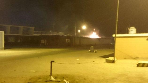 Obreros en huelga saquearon e incendiaron local de minera Shougang en Marcona. (portalperu.pe)