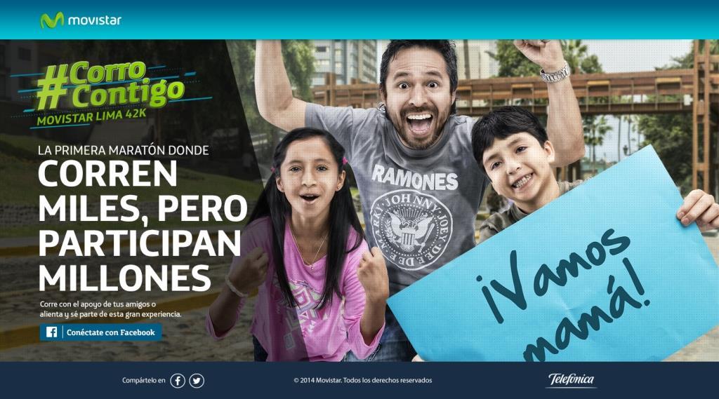 Lanzan web para alentar a participantes de la maratón Movistar Lima 42k