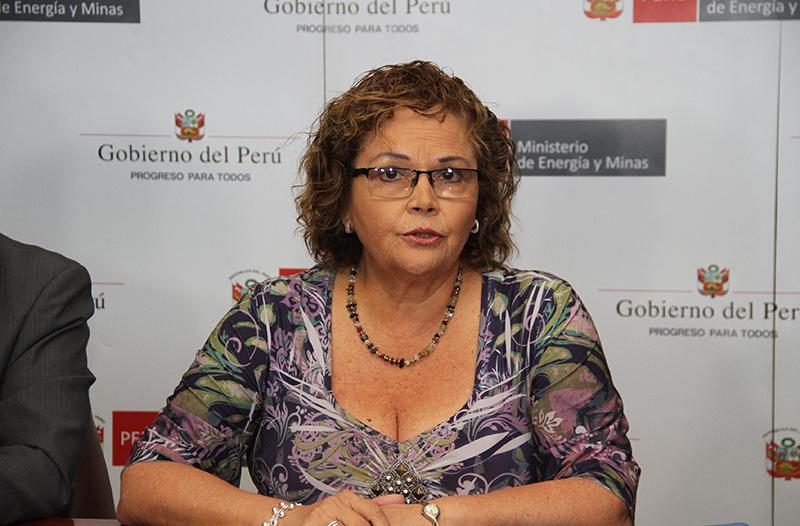Ministra Rosa María Ortiz (Foto: MINEM)