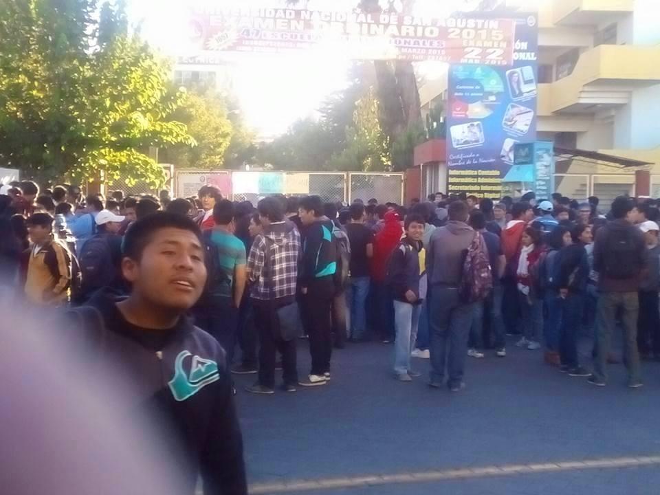 Protesta. Alumnos tomaron locales de la Unsa. (Foto: Facebook)