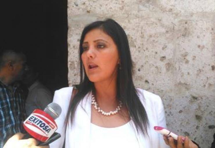 Gobernadora de Arequipa, Yamila Osorio (Foto: Exitosa)
