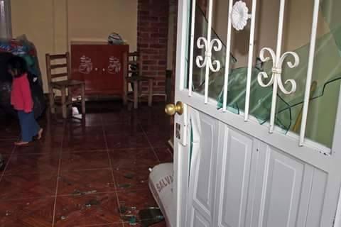 Así quedó una vivienda tras la irrupción violenta de la Policía en busca de opositores a Tía María. (Foto: ElBúho)
