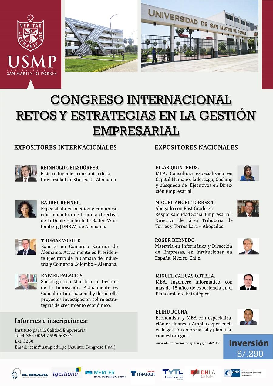 Afiche - Congreso Internacional Retos y Estrategias en la Gestión Empresarial