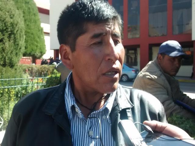 El presidente del Comité de Defensa de los Recursos Naturales de los aymaras, Ermes Cauna Morales(Foto: RPP)